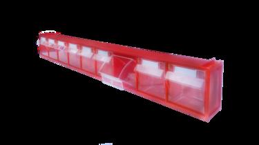 откидной короб 9 ячеек красный/прозрачный стелла fox 101