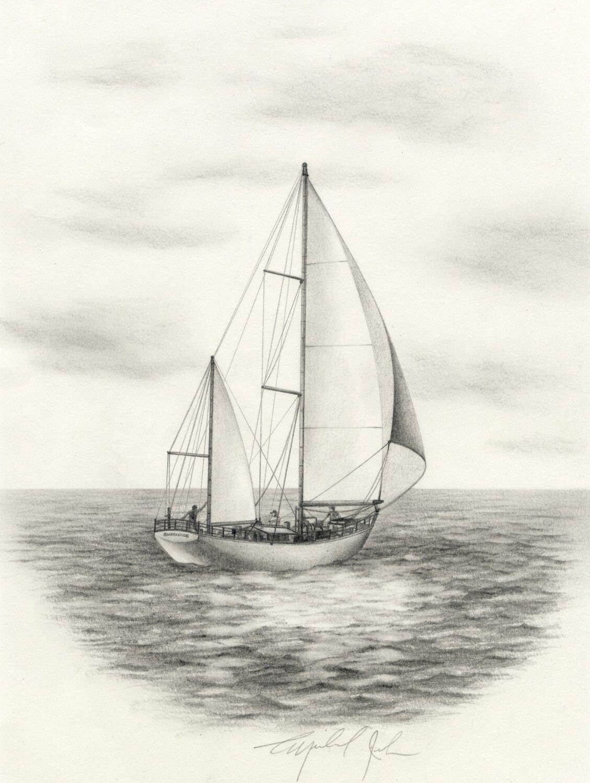 раскрыл византийский рисунок яхта в море карандашом что