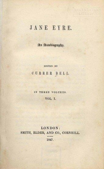 16 октября 1847 года впервые опубликован роман Шарлотты Бронте «Джен Эйр»