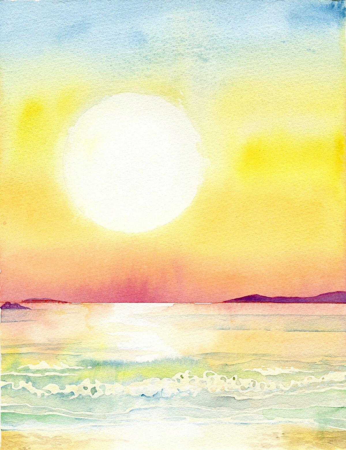 Восход солнца рисунок картинка