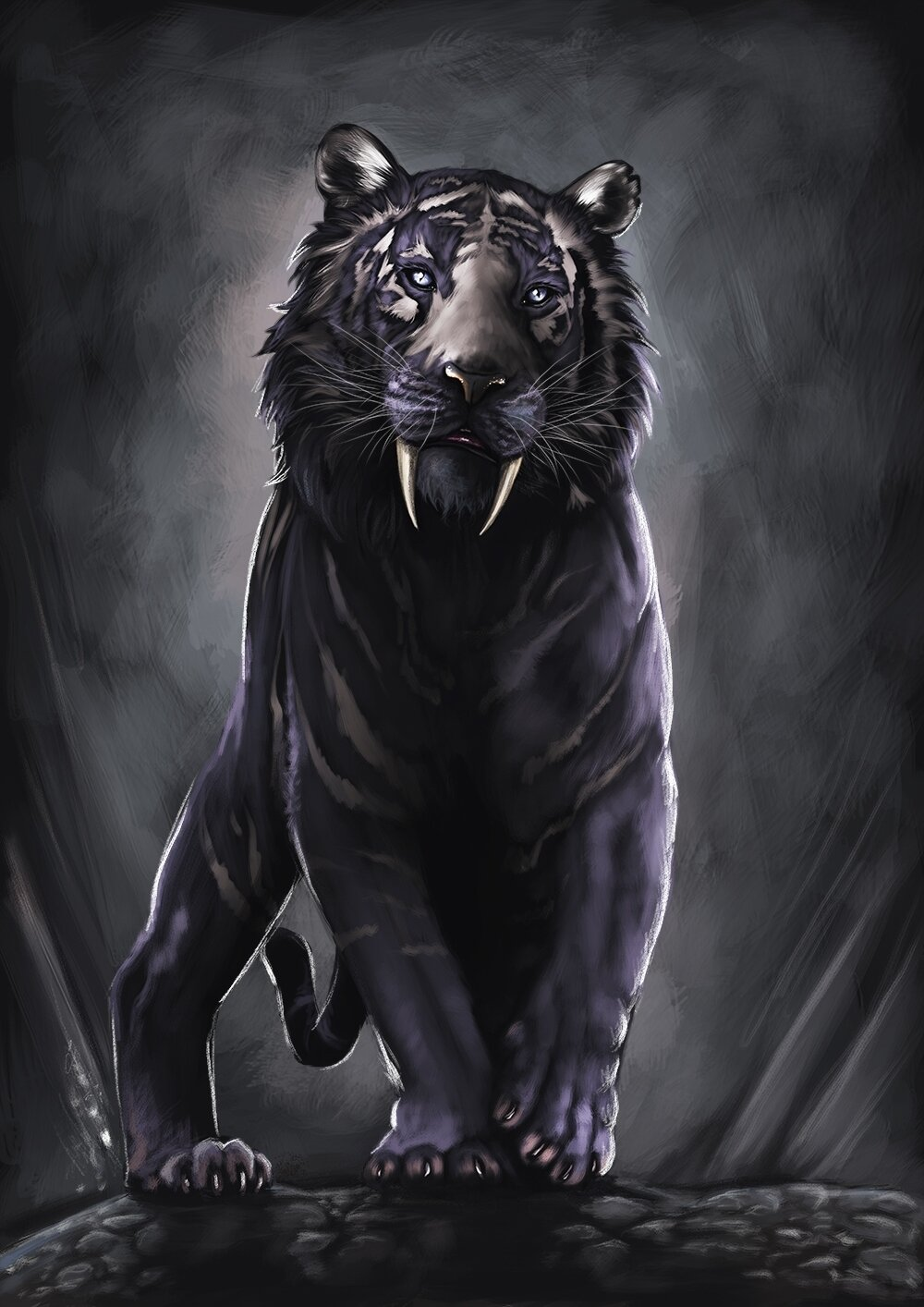 заботы темные картинки с тигром любви