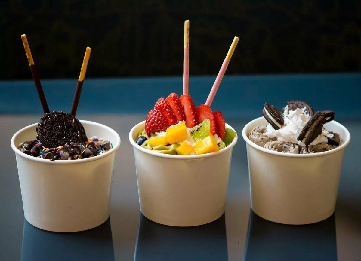 Картинки рекламы жареного мороженого