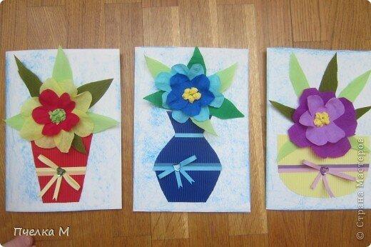 поздравительные открытки мамам на 8 марта в старшей группе принимаем