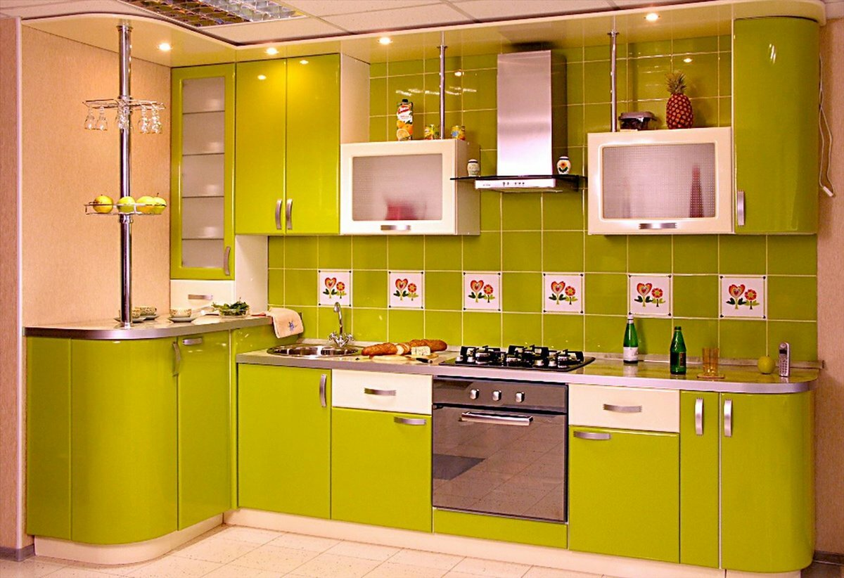 слушая наше картинки кухонная мебель зеленого цвета роскошно смотрятся