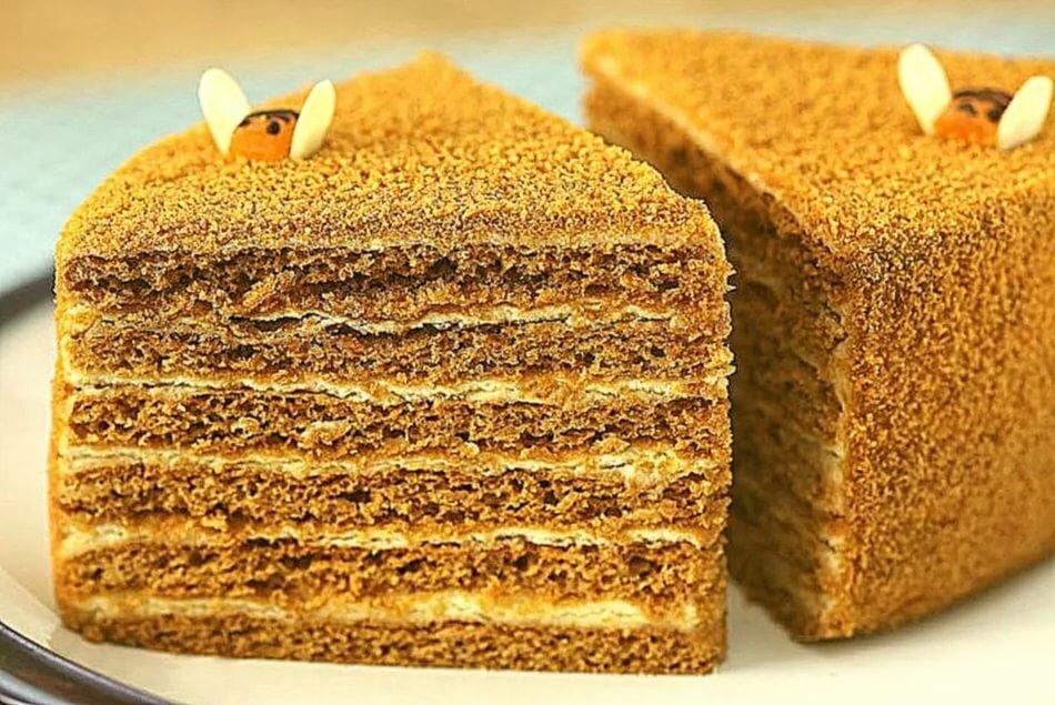 Медовый торт в картинках