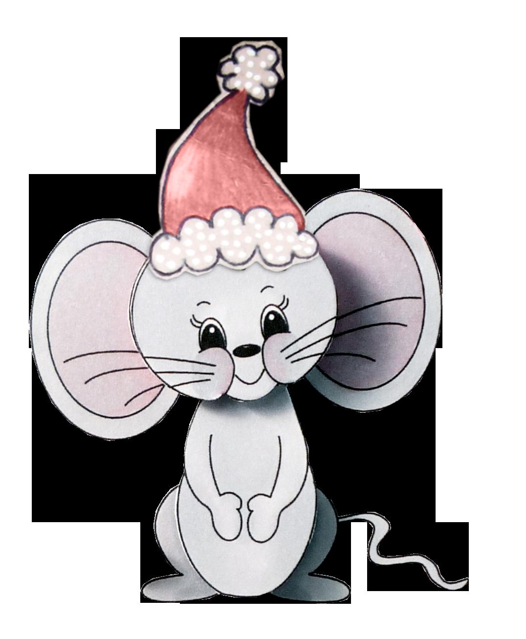 Мышь мультяшная картинки новогодняя