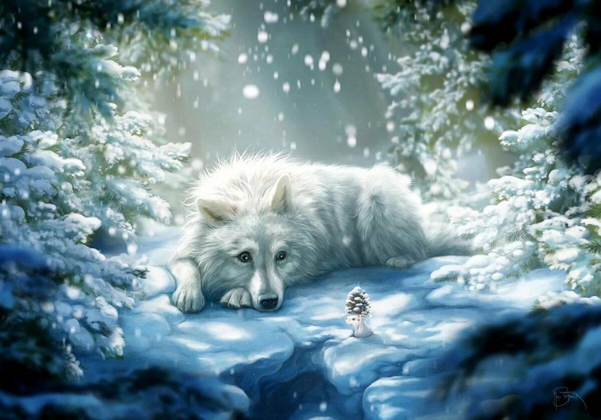 имитацию картинка лес волк снег большую прочность, боится