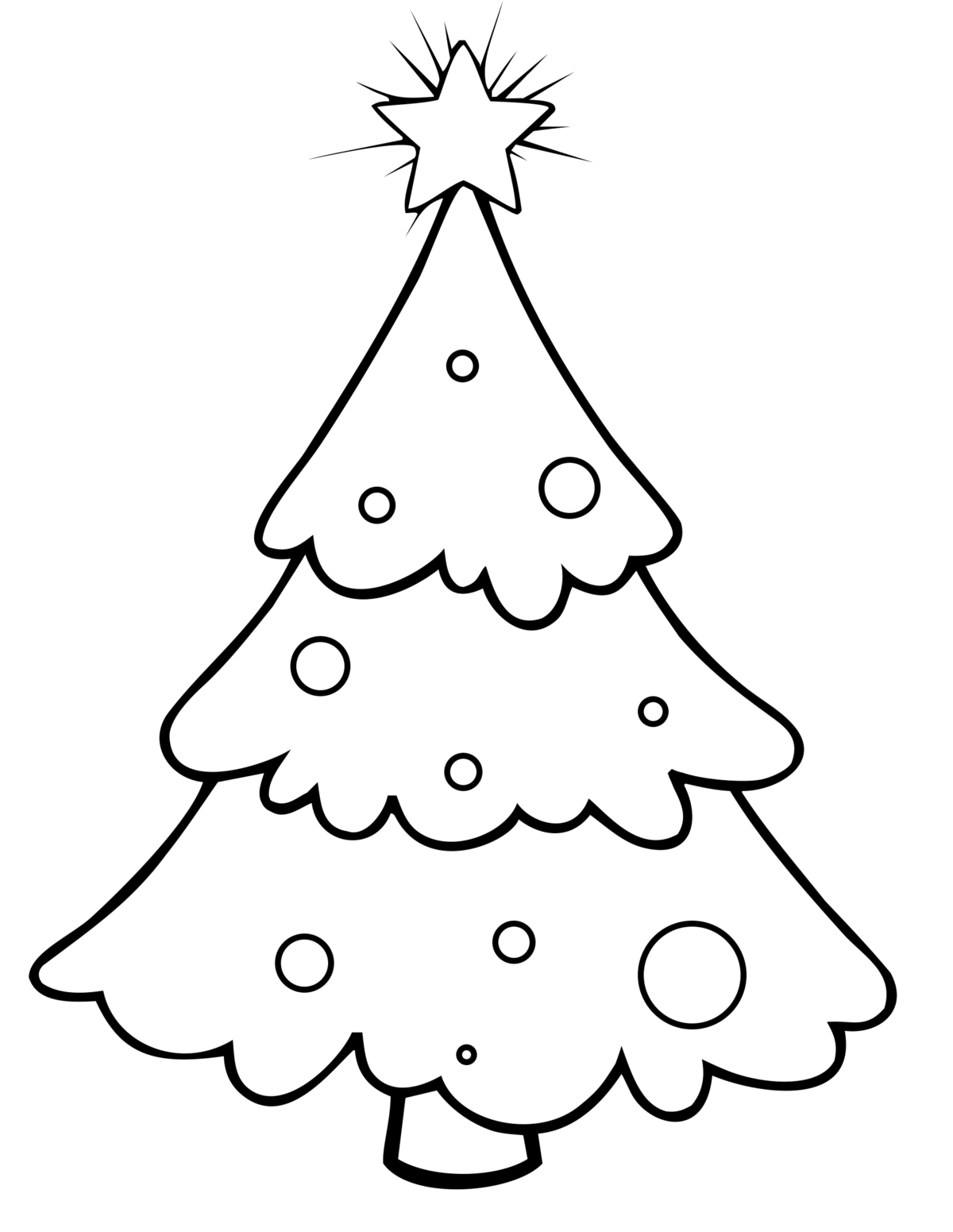 Картинка раскраска елочка для малышей