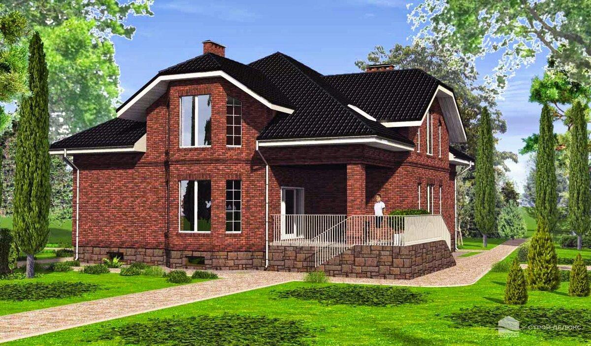 Проекты домов с мансардой из кирпича фото