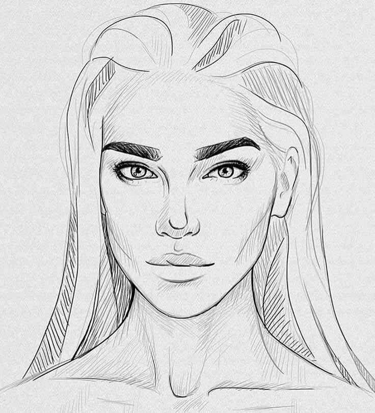 Картинки лицо нарисованное