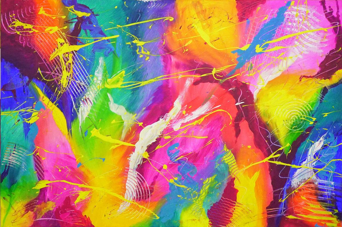 Красочные картинки красками