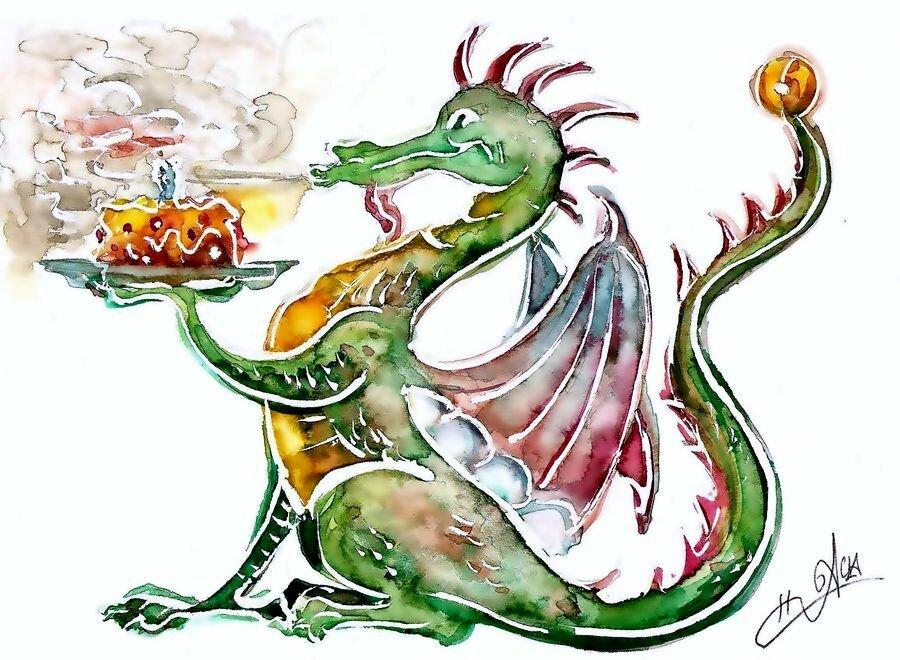 Красивые открытки с драконом