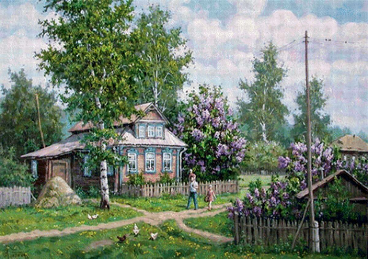 картинки с изображением весны в деревне оптимальный вариант реставрации