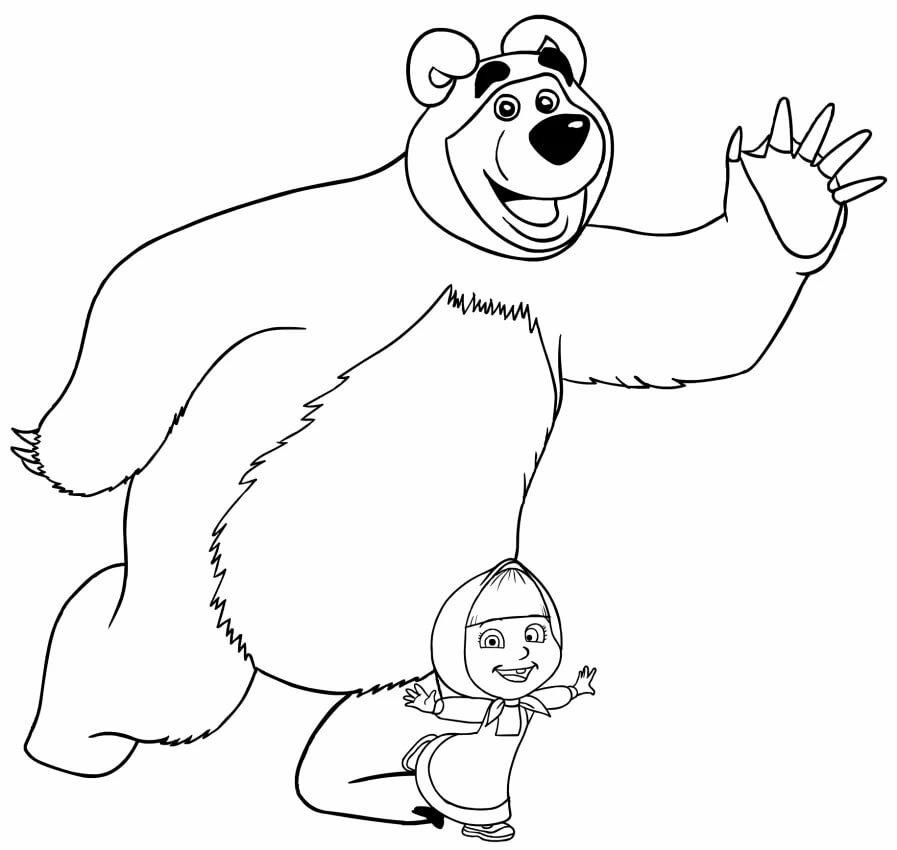 ноге раскрашивать картинки на компьютере маша и медведь более подробно