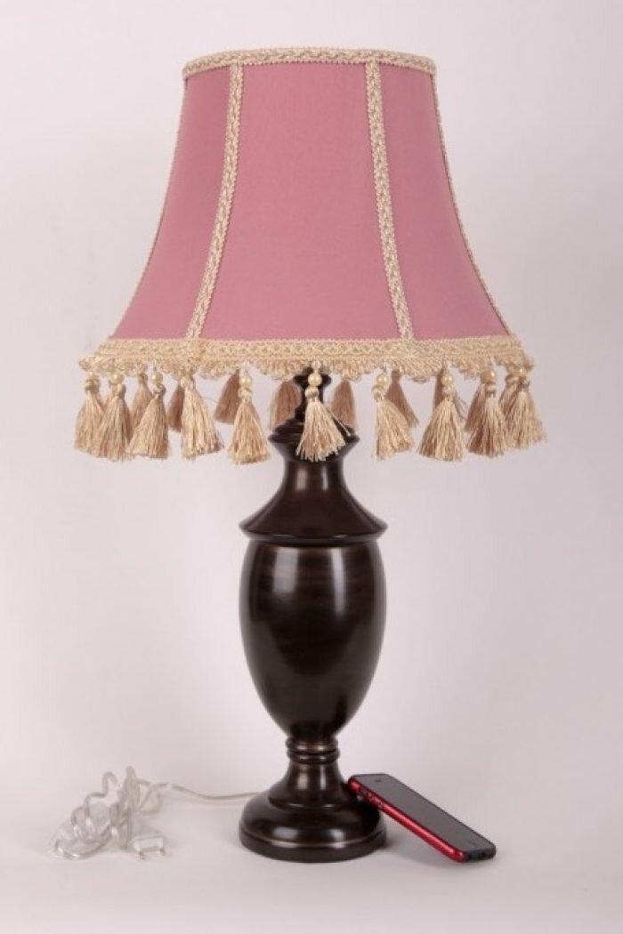 Настольные лампы с двухцветным абажуром фото