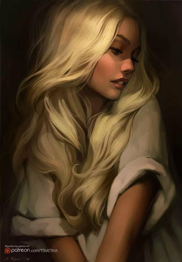 Мультяшные картинки блондинок девушек