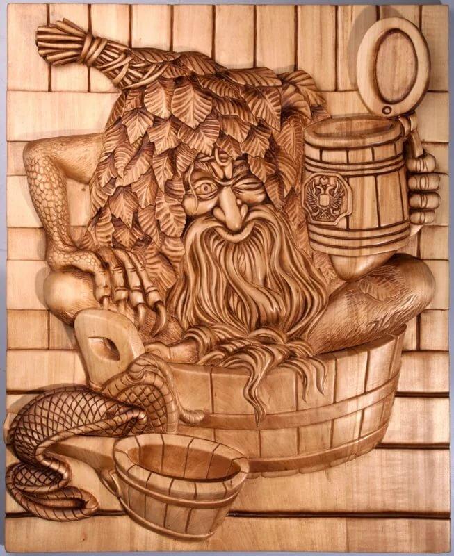 Картинка для выжигания в баню