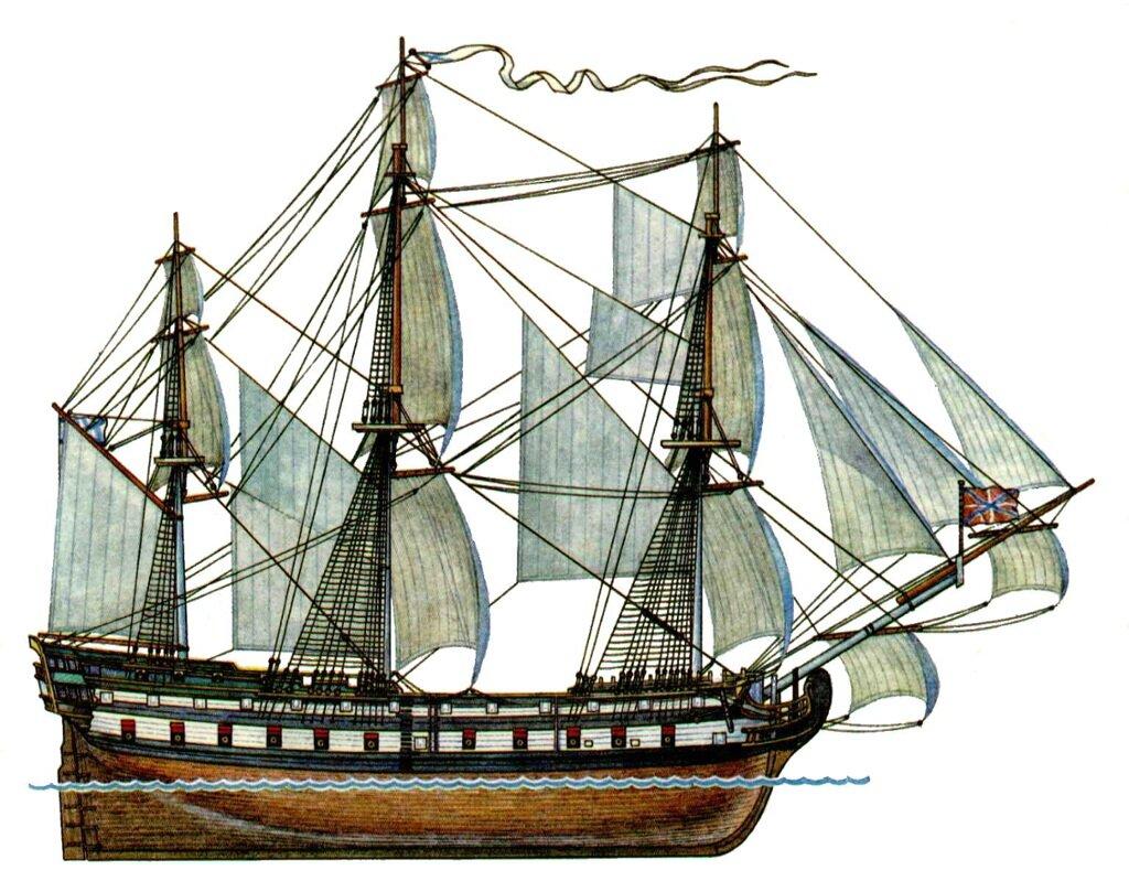 27 сентября 1783 года на воду спущен первенец Черноморского флота России – парусный корабль «Слава Екатерины»