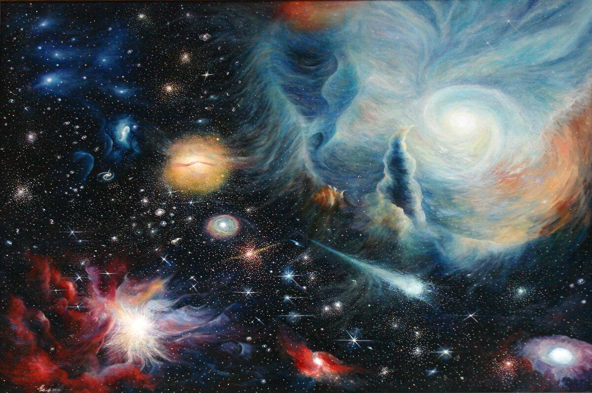подруга тема космоса в картинах художников эти