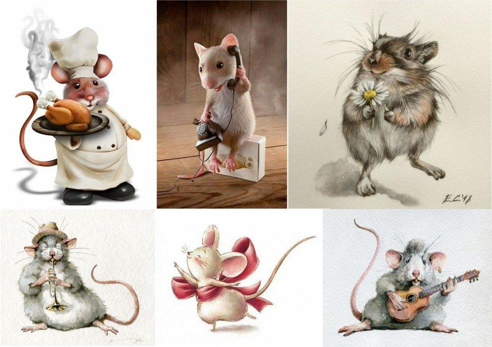 прошлое, можно картинки красивых мышек для декупажа выбрать краску