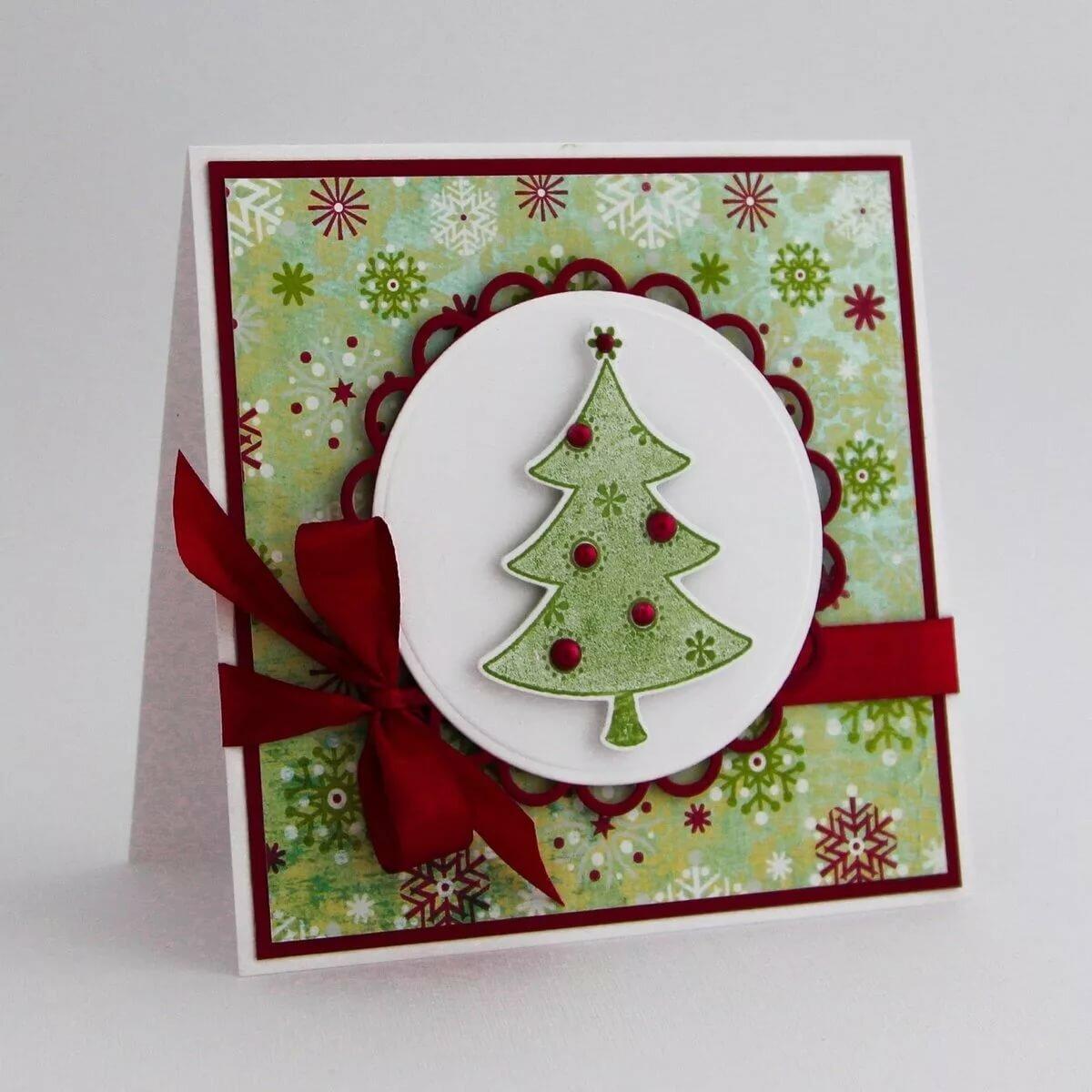 разных моделях идеи к рождественской открытке днем
