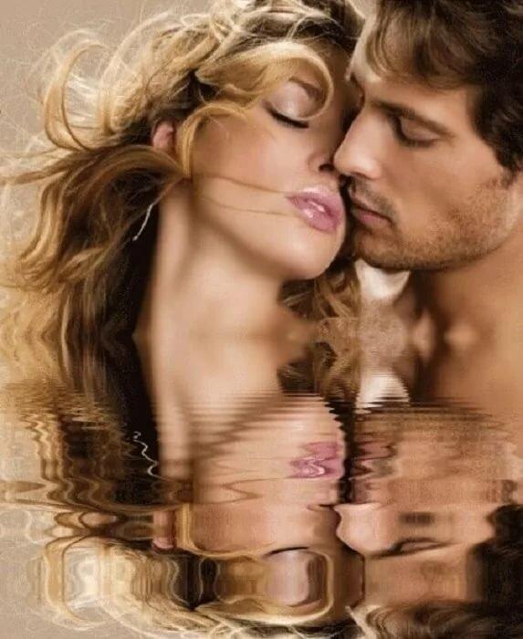 Поцелуй открытка фото