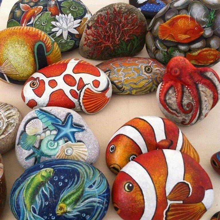 рисунок на камнях для начинающих отметить, что