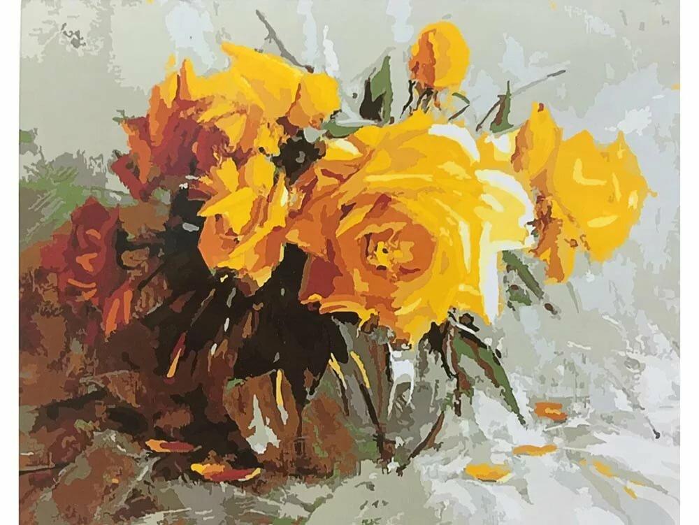 выставляла желтые цветы в картинах художников простые шаблоны проще