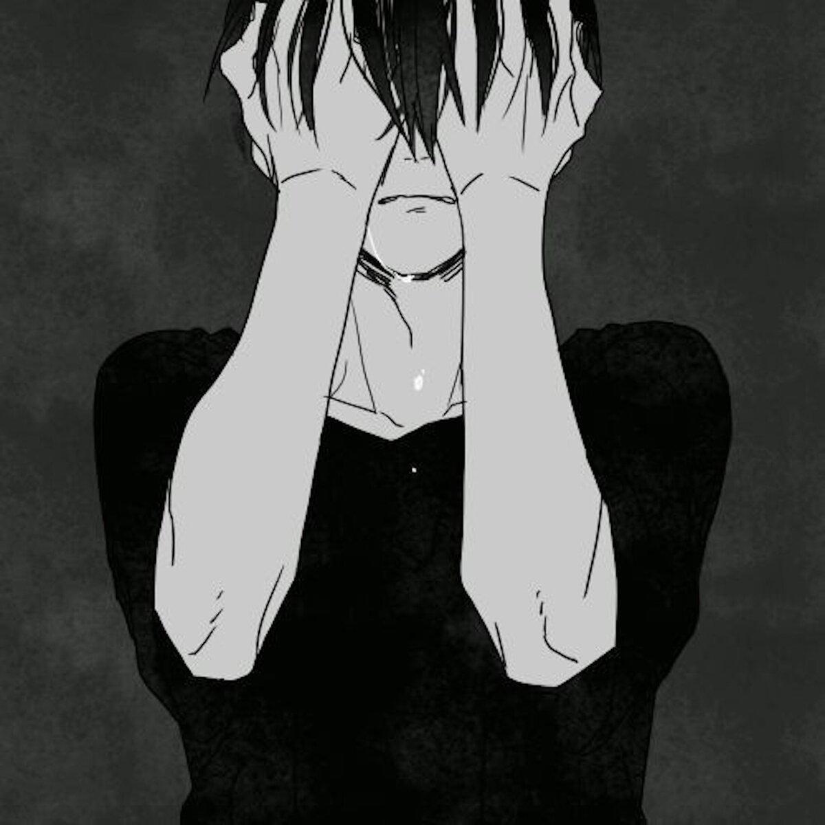 Грустные депрессивные картинки на аву