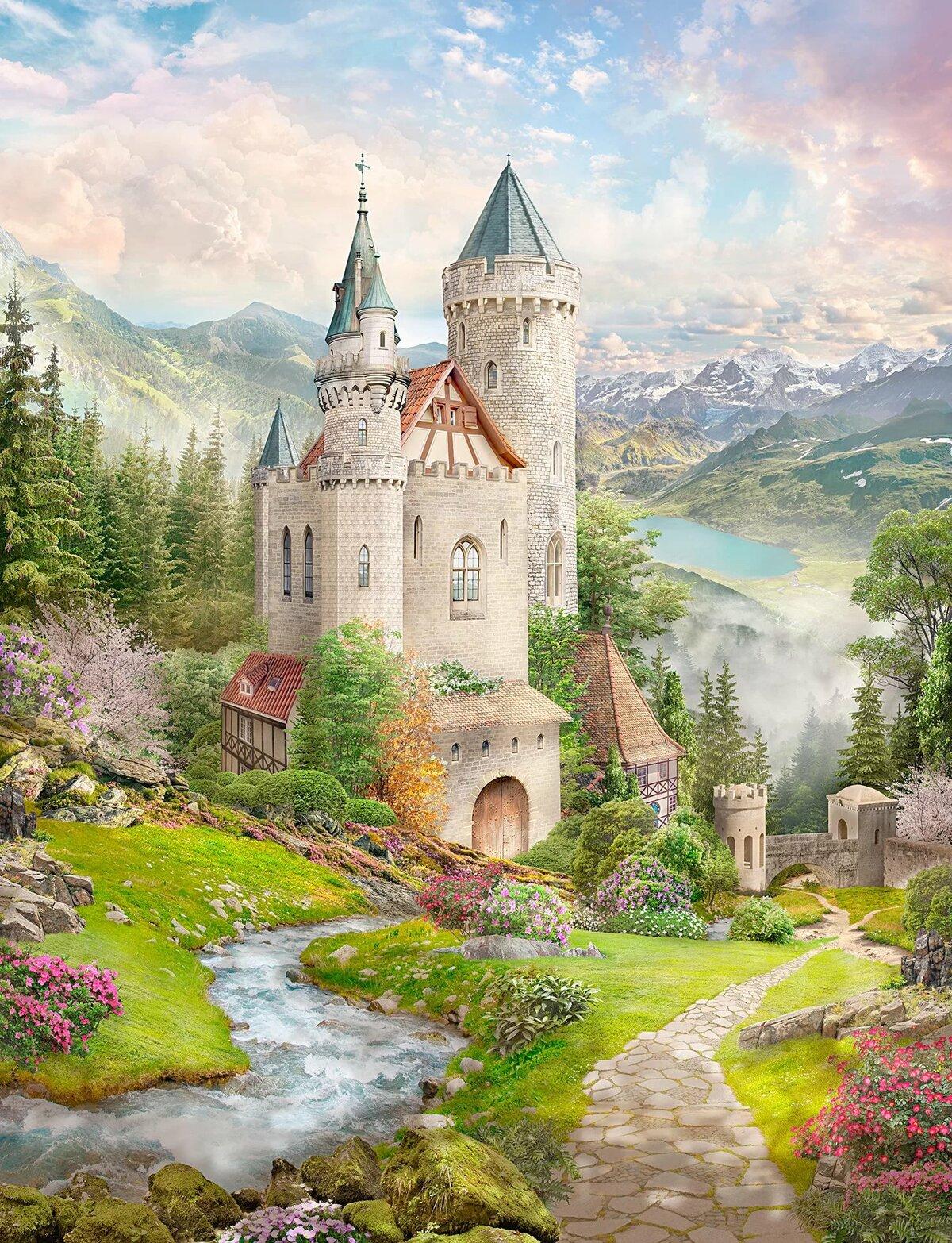 короткими волосами красивые картинки сказочный замок может быть