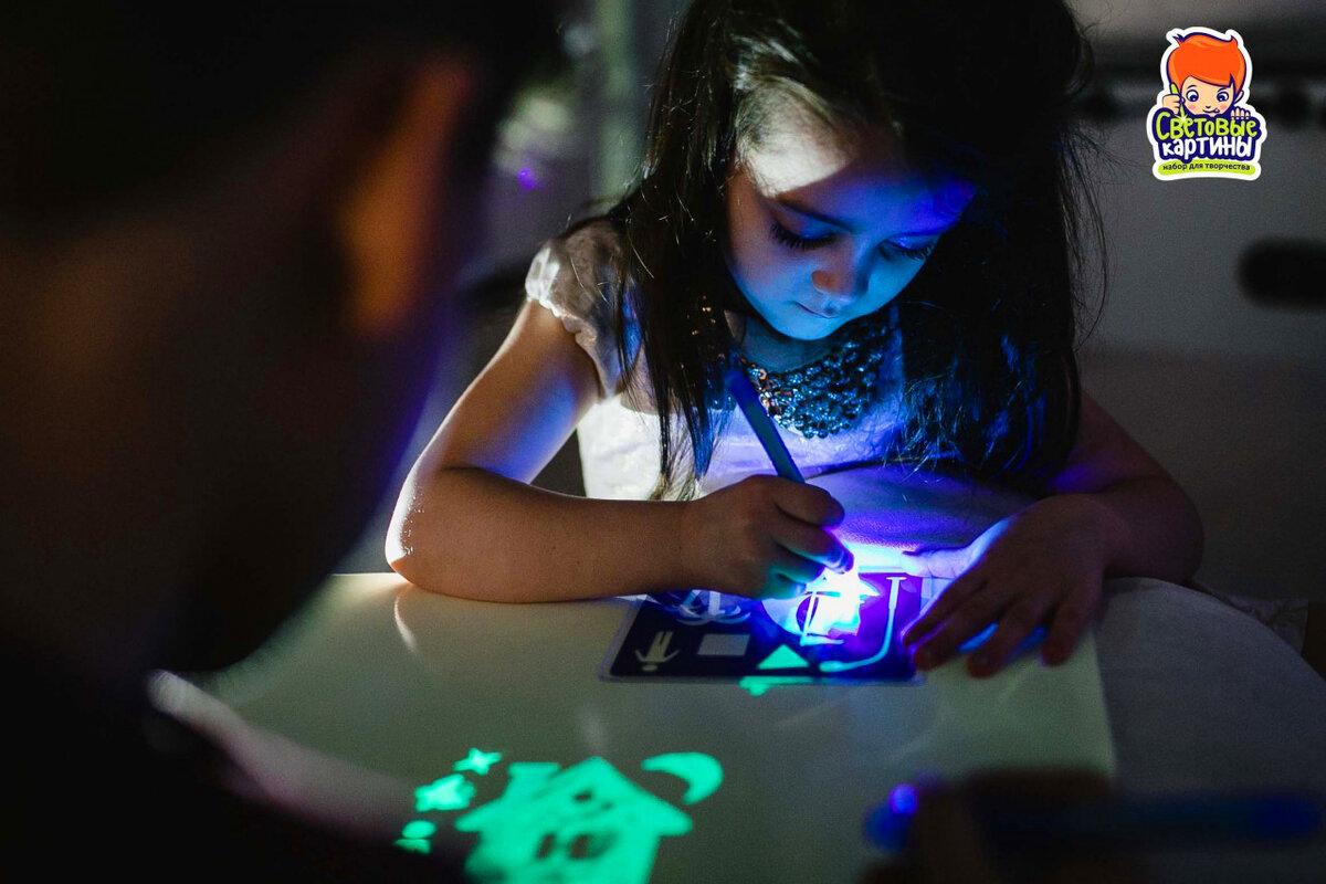 Детский набор для рисования в темноте - Рисуй светом в Нефтеюганске