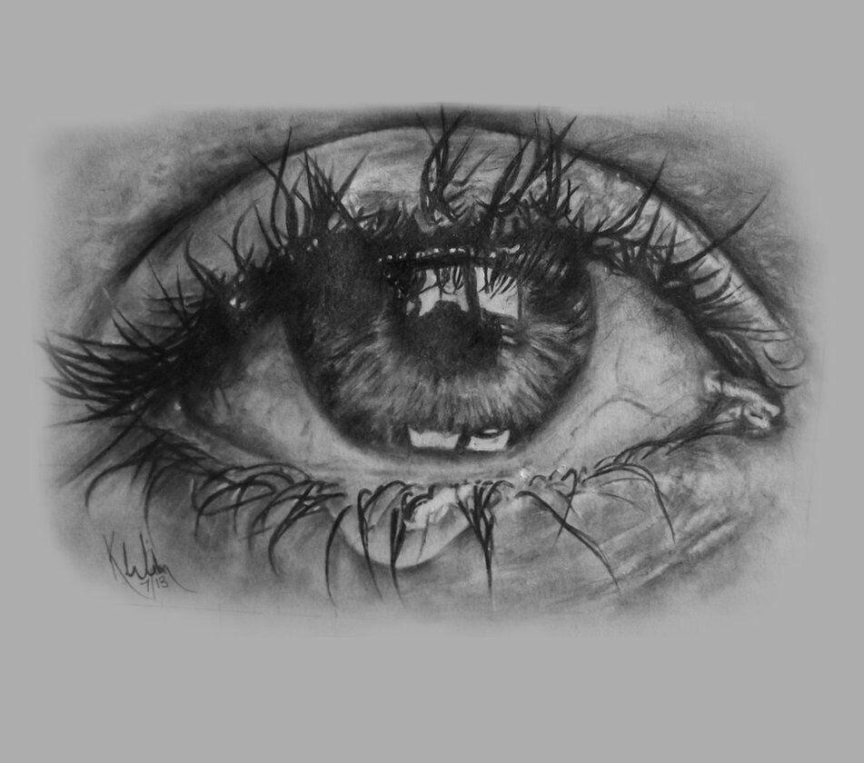 рисунки закрытые глаза со слезами своей