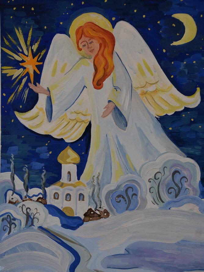 Рождество христово нарисованные картинки