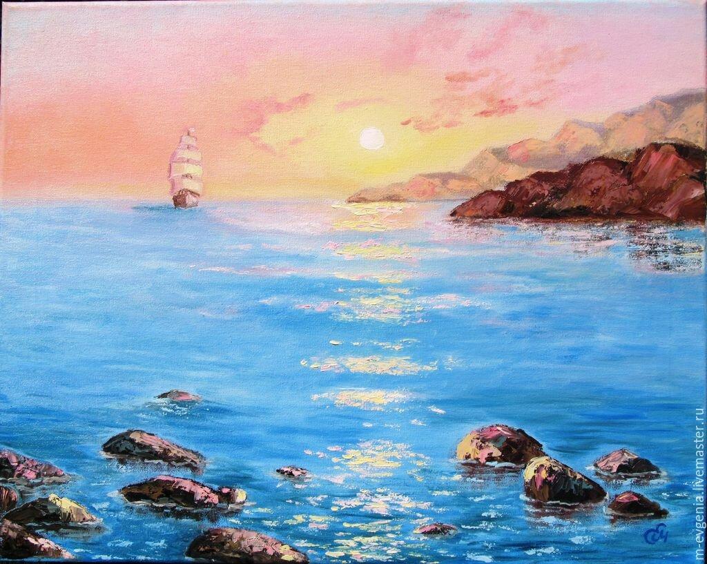 Картинки морские пейзажи маслом