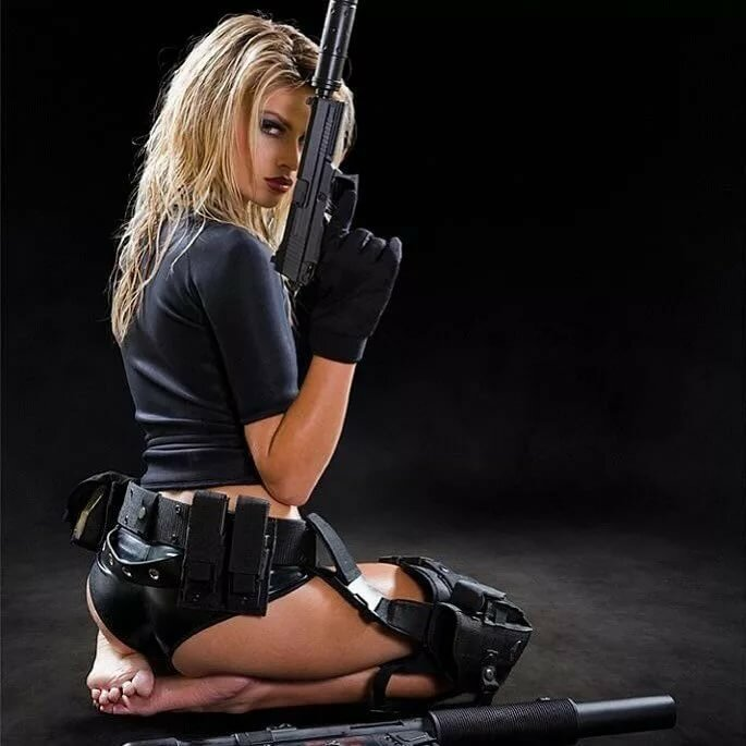 Hot girls with guns gif