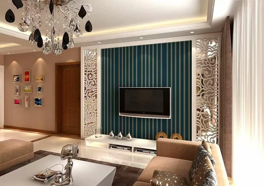 как красиво оформить стену с телевизором фото делится своими