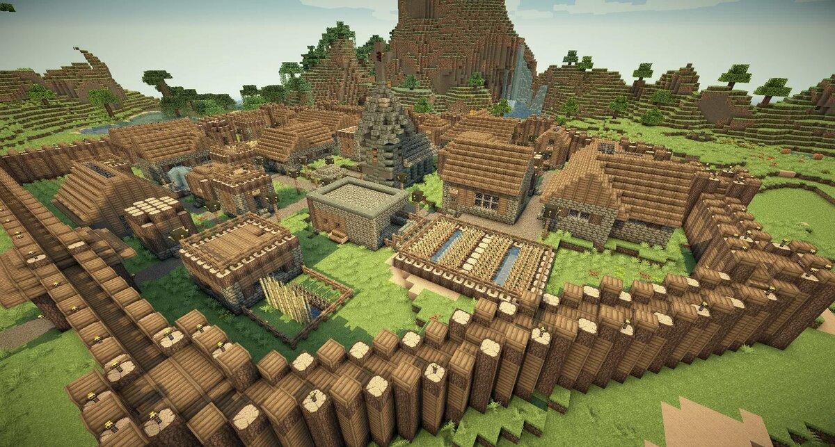 Картинка майнкрафт деревни