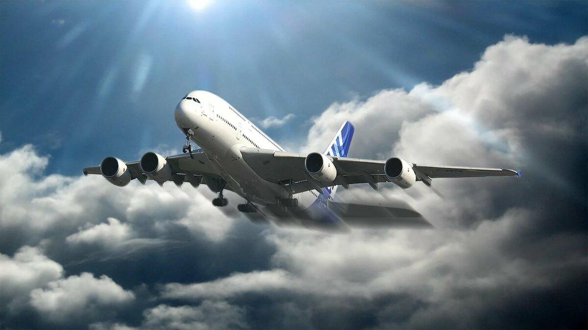 Красивая картинка самолета на взлете