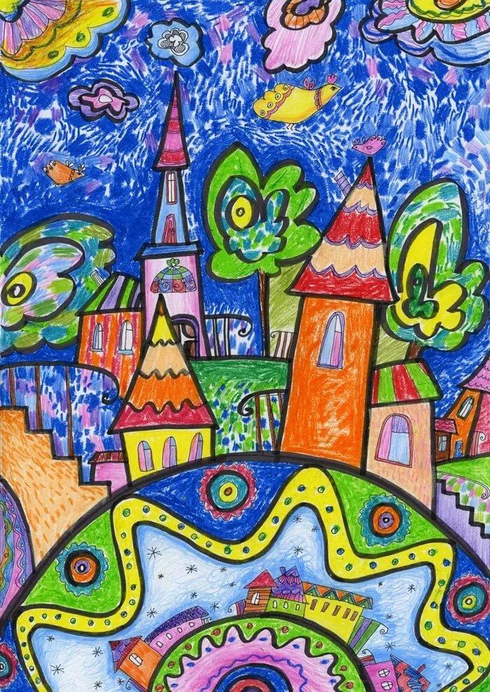 Картинка на тему разноцветная страна