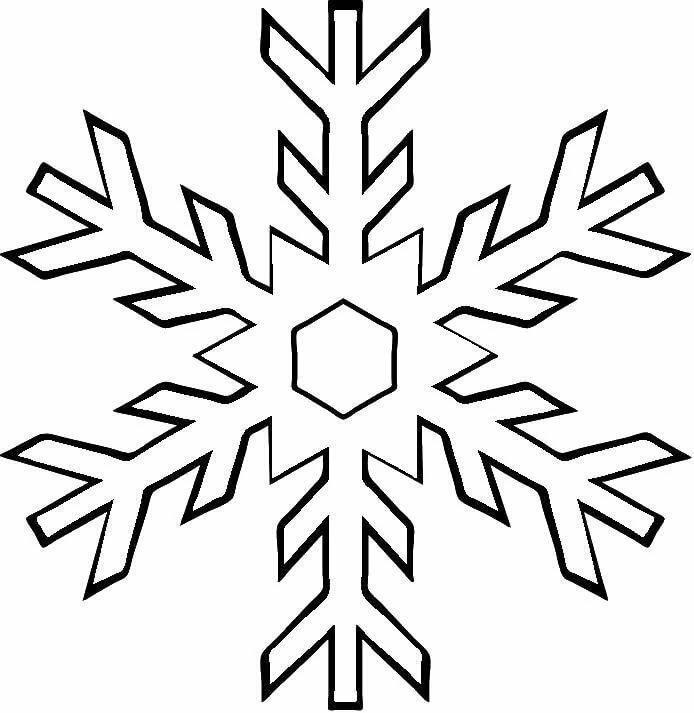 рисунок самой простой снежинки хорошая новость питать