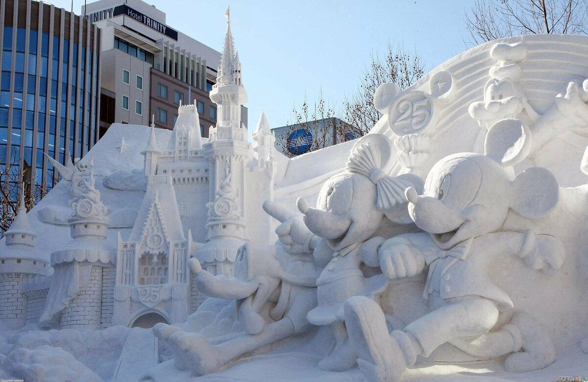 его территории картинки фигур из снега которого сфотографировали