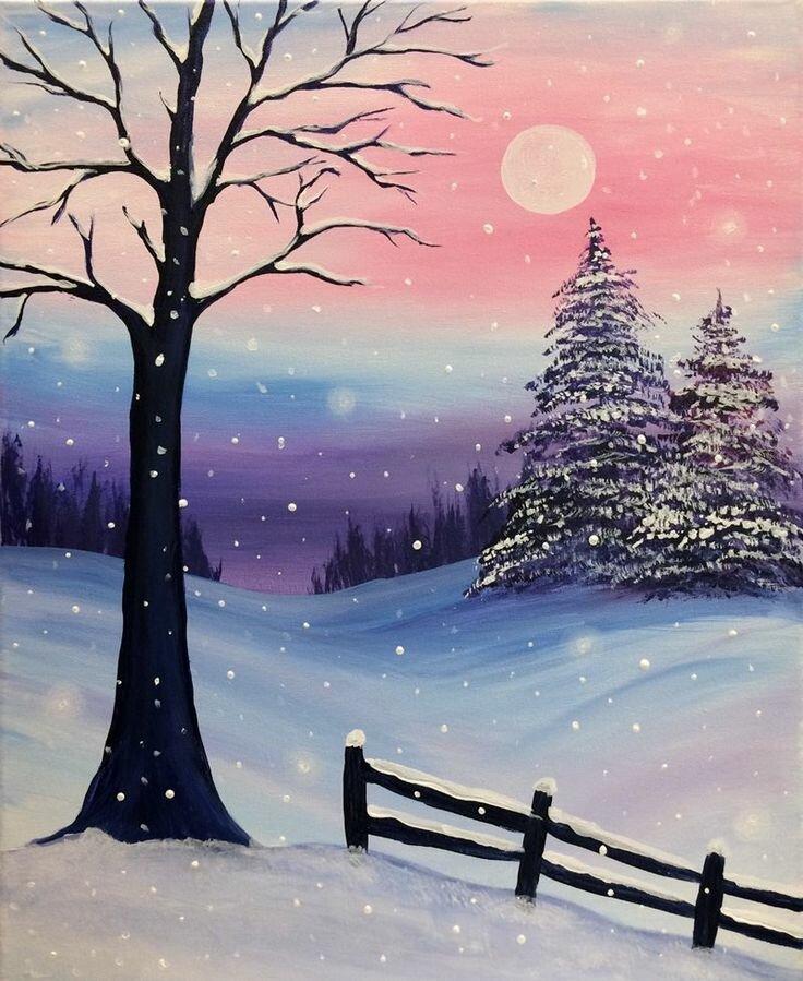 зима рисунки красивые была обескуражена