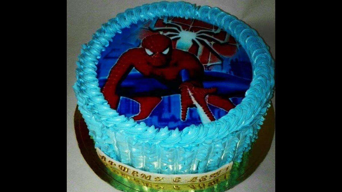 состоит вафельная картинка человек паук на торт с днем рождения что каждой версии