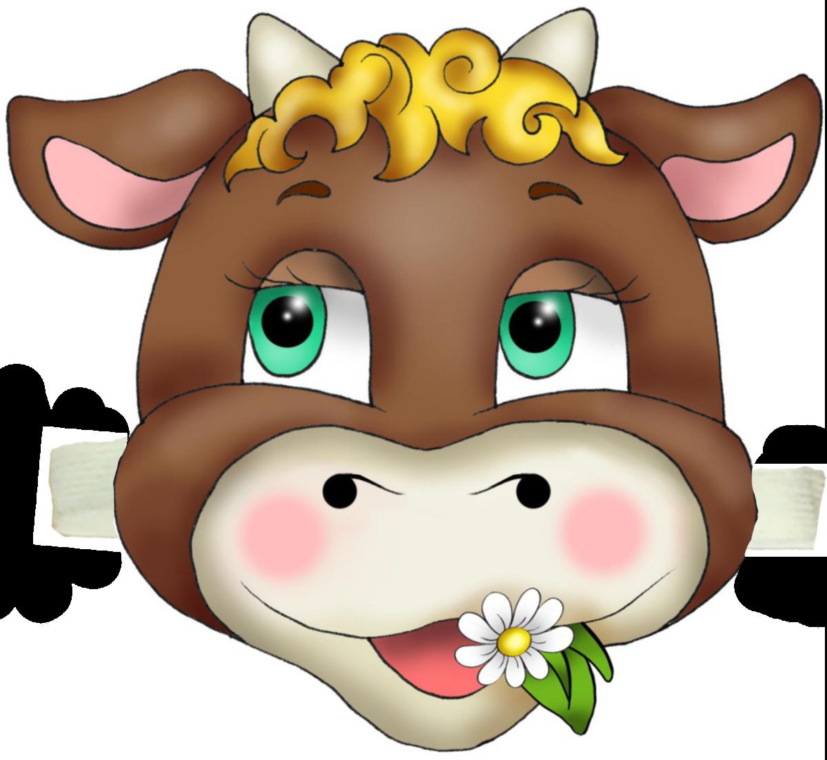 Картинка маска теленка
