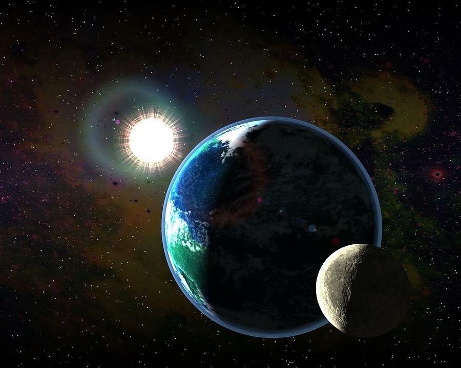 Земля луна солнце картинки