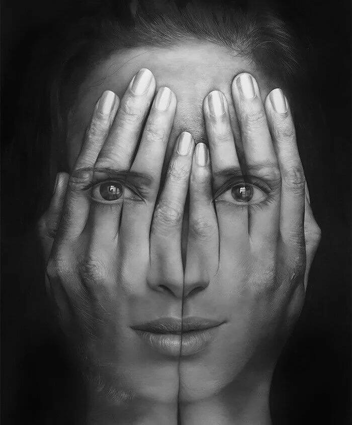 картинки руки закрывающие лицо пасты простой