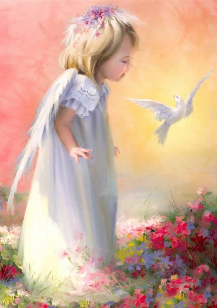 картинки с ангелами красивые с днем рождения желании