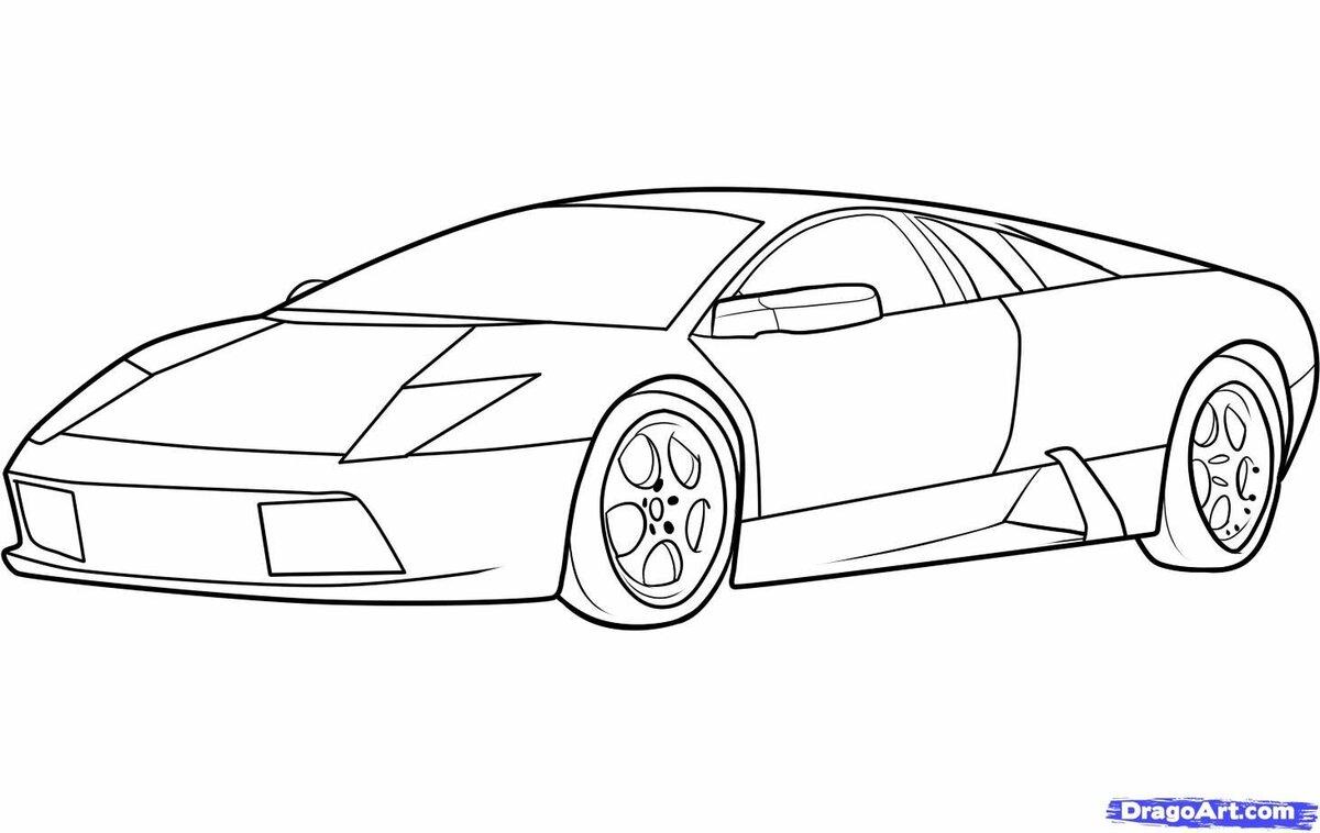 Машинки легкие картинки срисовать очень нравятся