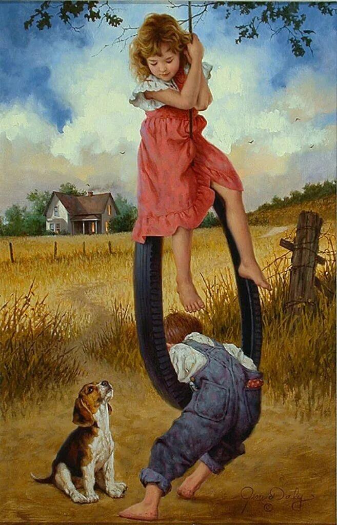 Картинка о современном детстве