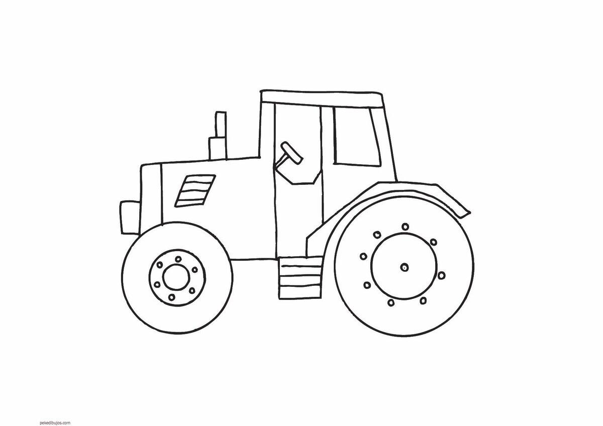 Картинки трактора для срисовки детские